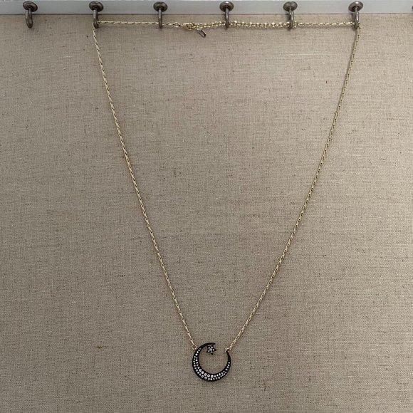 Stella & Dot Pave Crescent Necklace